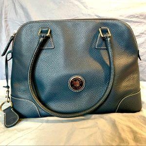 Dooney & Bourke Navy Blue Pebble Leather Hand Bag